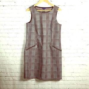 Apt 9 Crewneck Sleeveless Plaid Jumper Dress